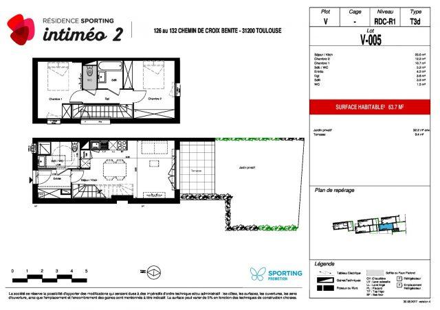 Appartement T3 de 63.2 m² à Toulouse