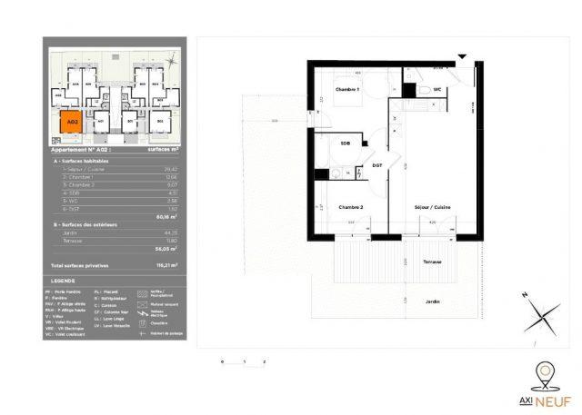 Appartement T3 de 60.16 m² à Toulouse