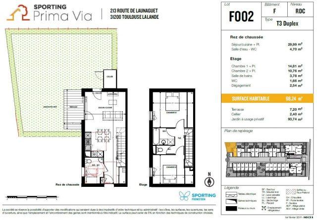 Appartement T4 de 81.43 m² à Toulouse