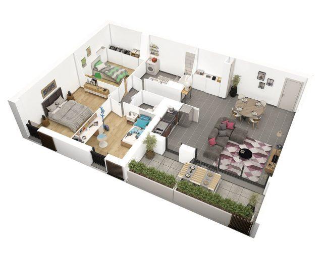 Appartement T4 de 81 m² à Toulouse
